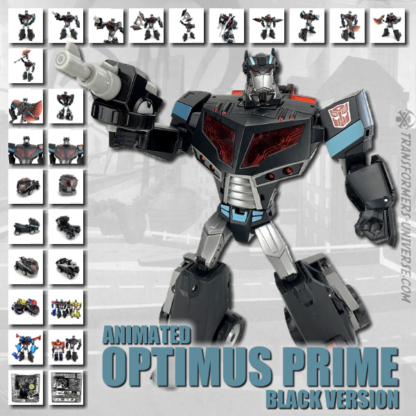 Animated Optimus Prime Black Ver.