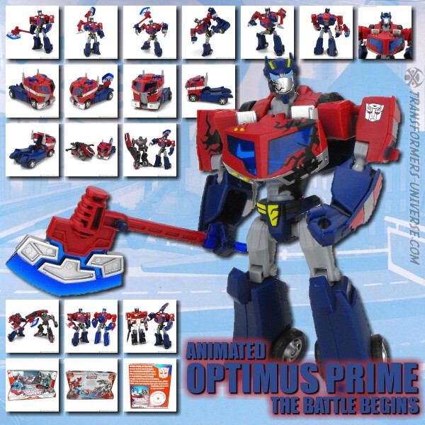 Animated Optimus Prime Battle Begins