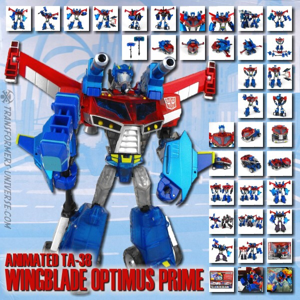 Animated TA-38 Wingblade Optimus Prime