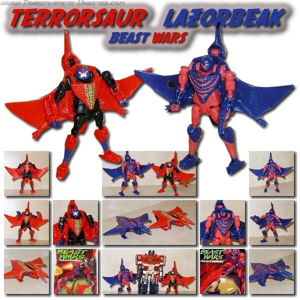 Beast Wars Terrorsaur & Lazorbeak
