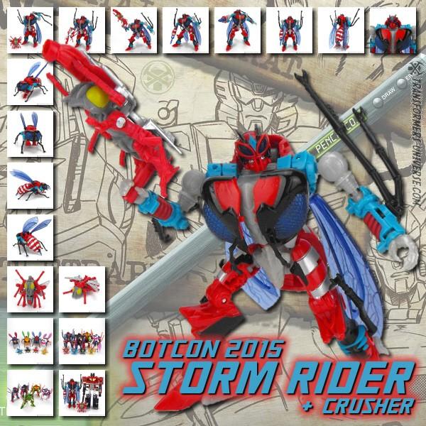 Botcon 2015 Storm Rider & Crusher