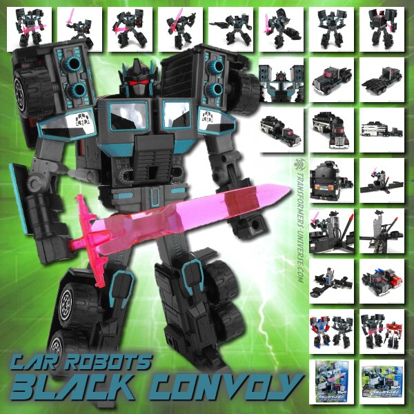 Car Robots D-012 Black Convoy