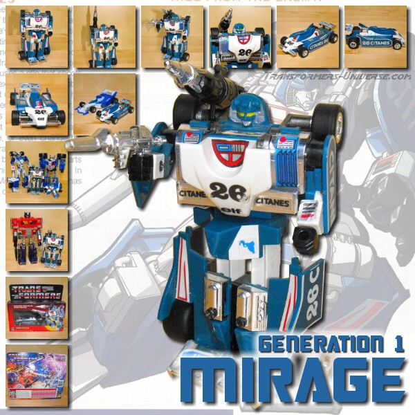 Who and what I ... G1 Transformers Mirage Review