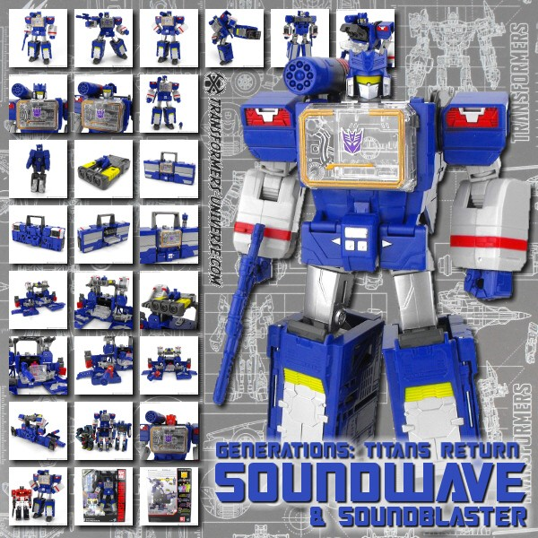 Titans Return Soundwave & Soundblaster