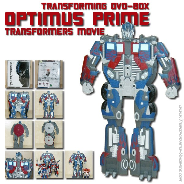 Movie Optimus Prime Transforming DVD Box