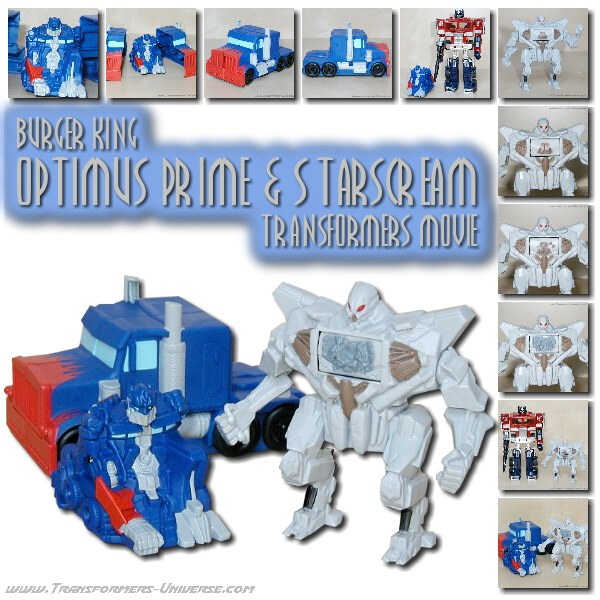 Movie Optimus Prime & Starscream Burger King Toys