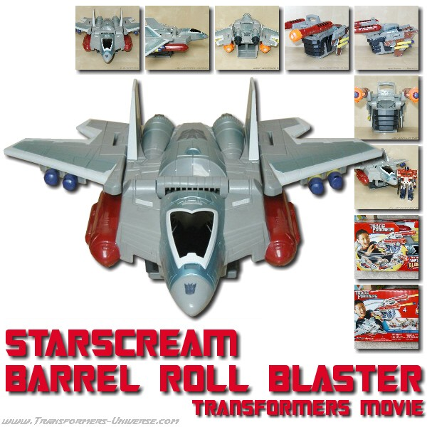 Movie Starscream Barrel Roll Blaster
