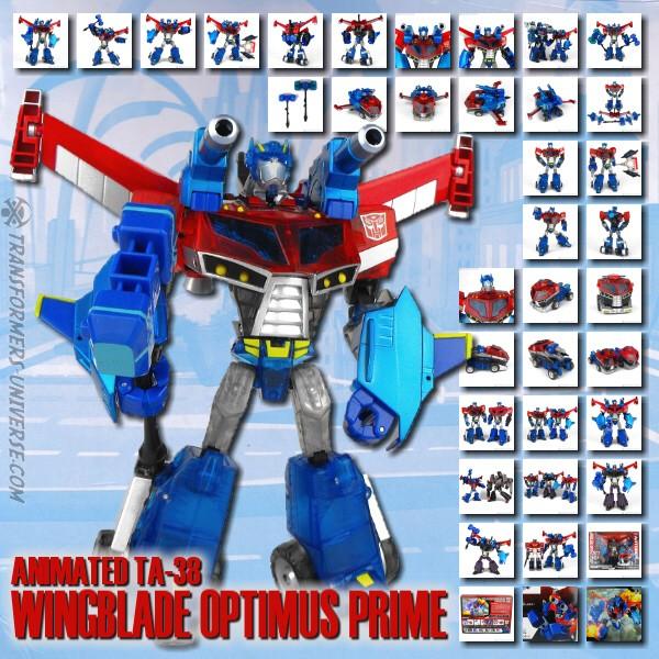 Animated TA-38 Wingblade Optimus Prime
