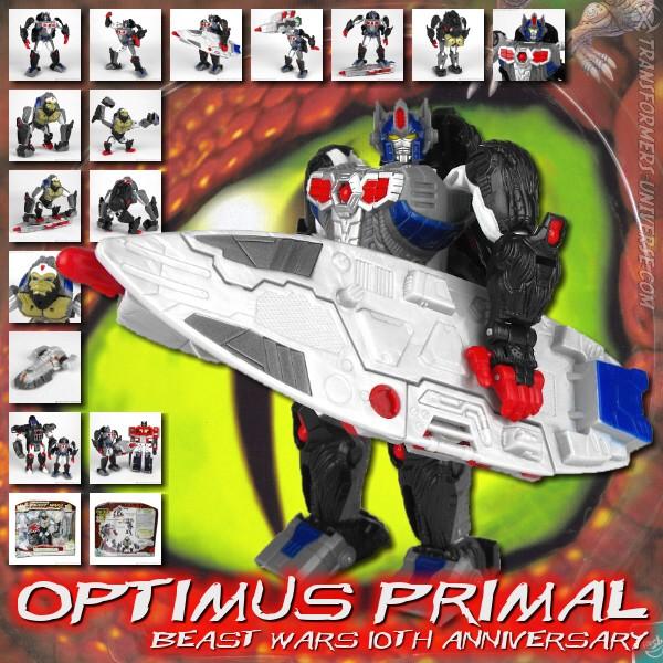 Beast Wars Optimus Primal 10th Anniversary Edition