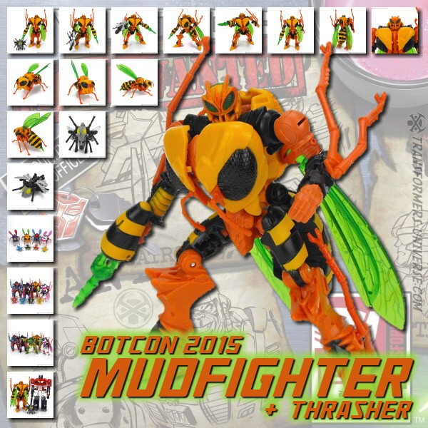 Botcon 2015 Mudfighter & Trasher